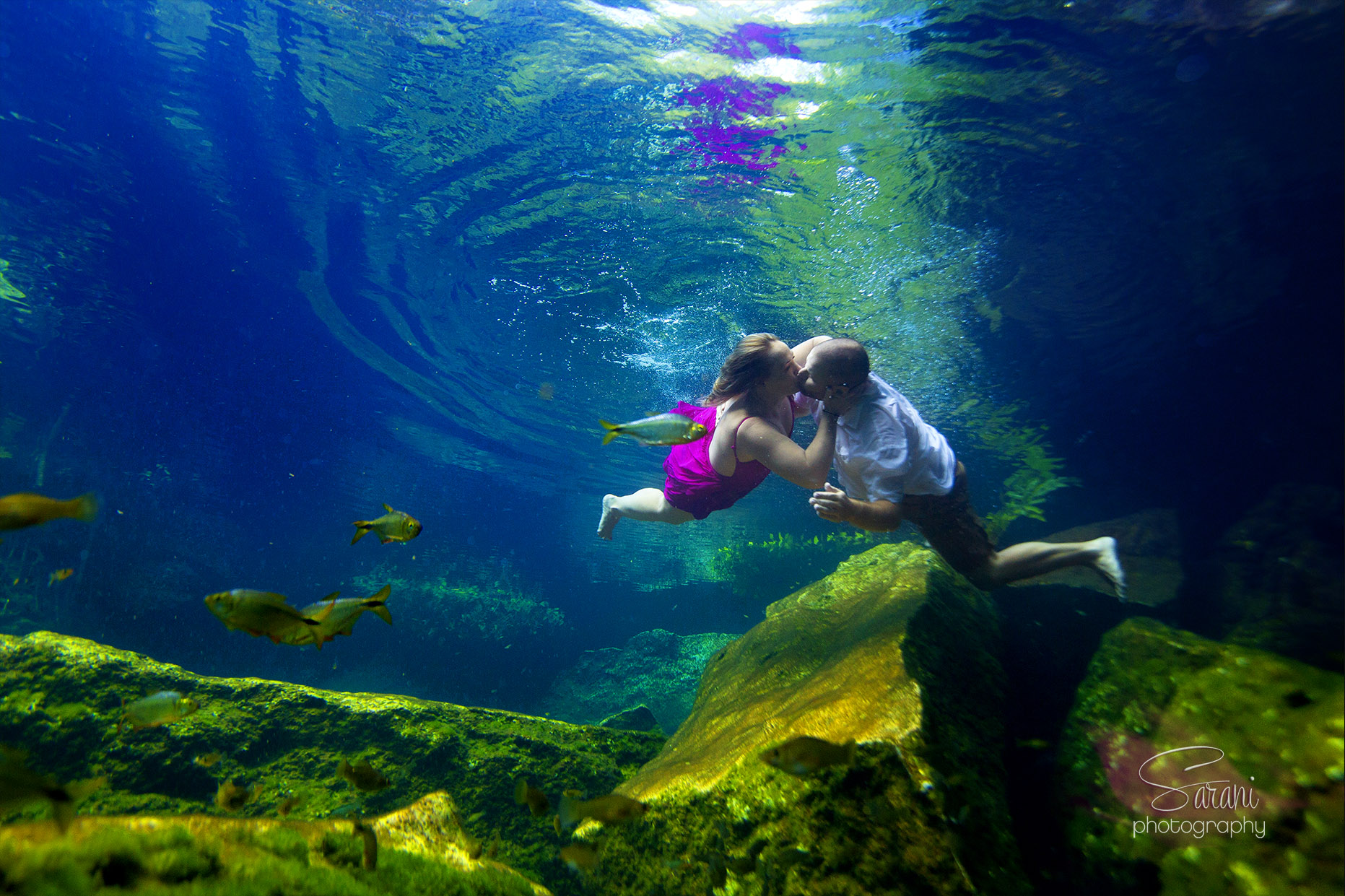 Riviera Maya Underwater Trash The Dress