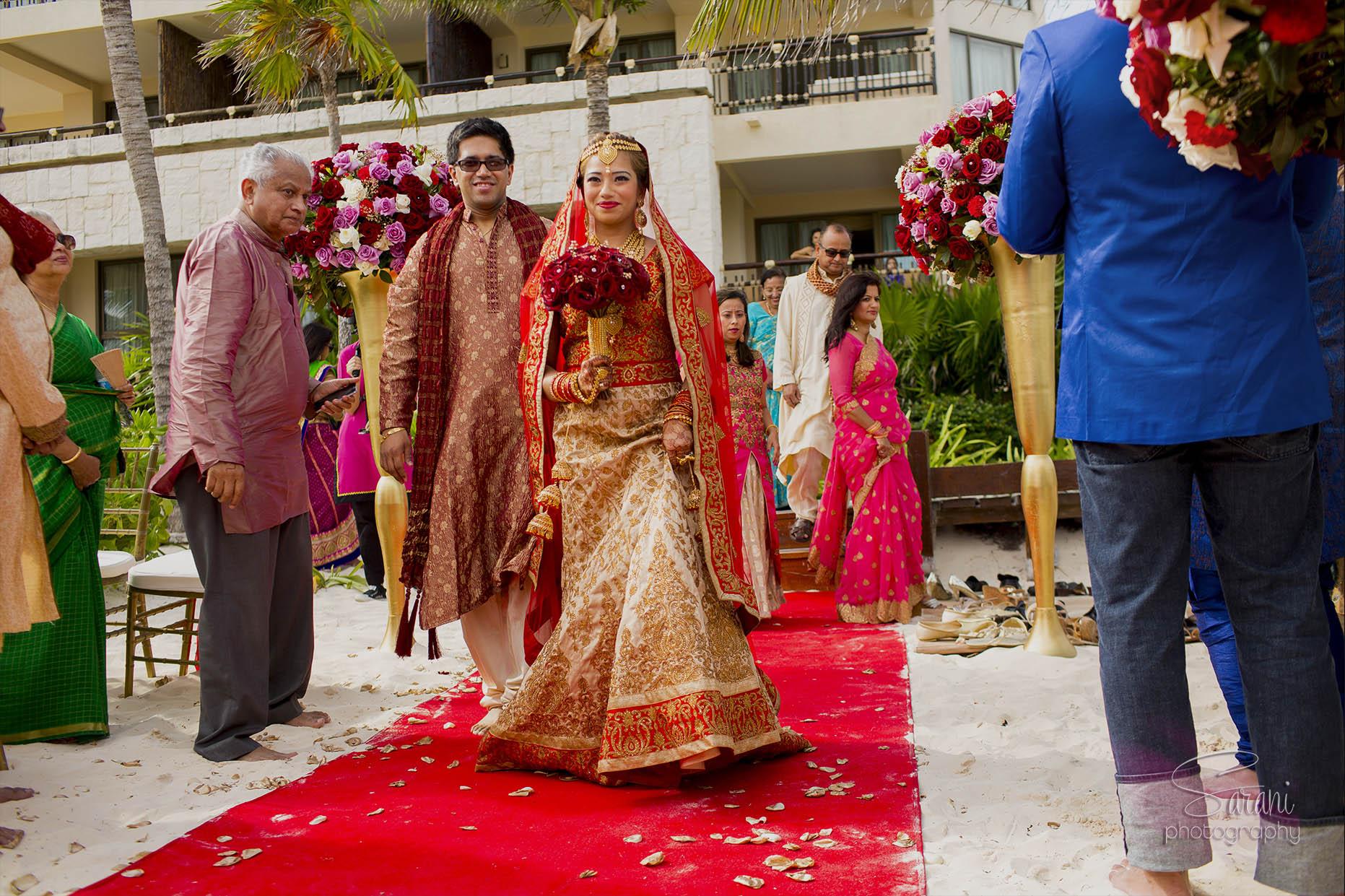Dreams Riviera Cancun Indian Wedding Photography